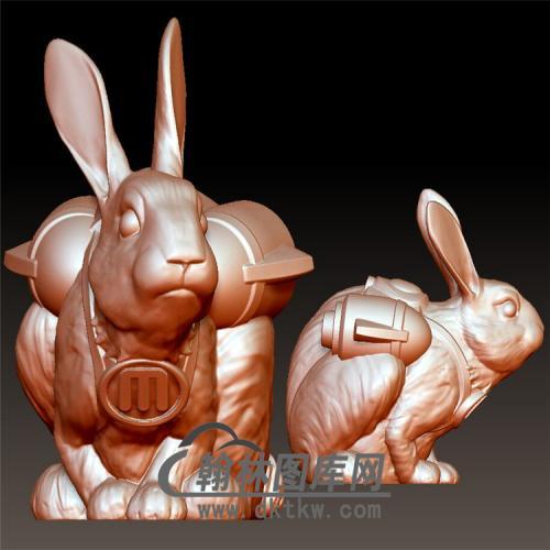 兔子立体圆雕图(YT-028)
