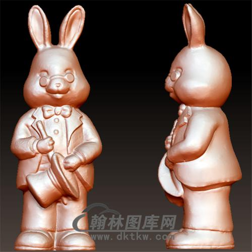 兔子先生立体圆雕图(YT-029)
