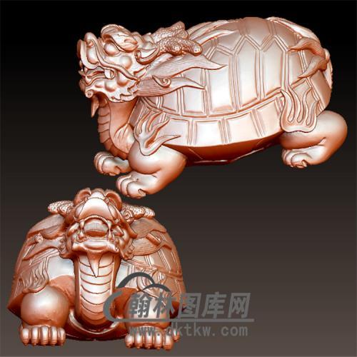 龙生九子立体圆雕图(YL-063)