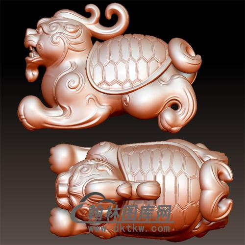 玉雕龙龟立体圆雕图(YL-034)