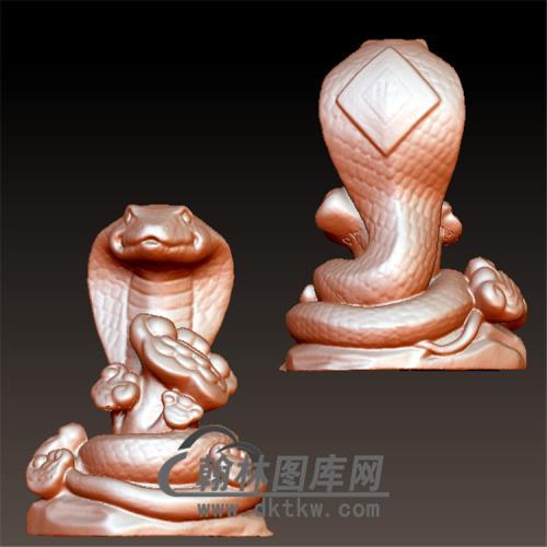 蛇立体圆雕图(YS-002)