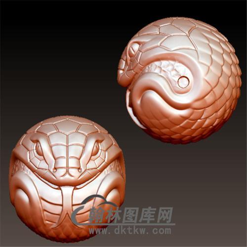蛇转运珠立体圆雕图(YS-003)