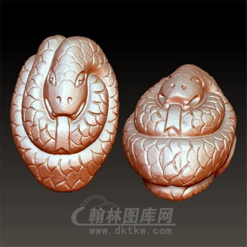 金钱蛇把件立体圆雕图(YS-005)