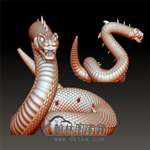 毒蛇模型立体圆雕图(YS-007)