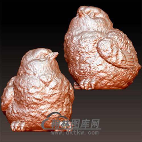 小鸡立体圆雕图(YJ-005)