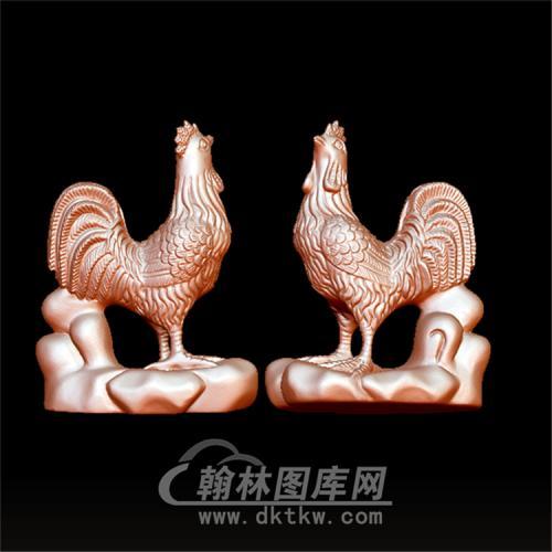 生肖鸡立体圆雕图(YJ-006)