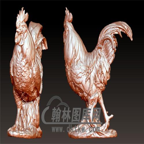 公鸡立体圆雕图(YJ-010)