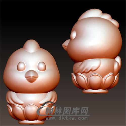 吉祥鸡立体圆雕图(YJ-012)