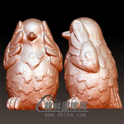 三不鸡立体圆雕图(YJ-013)