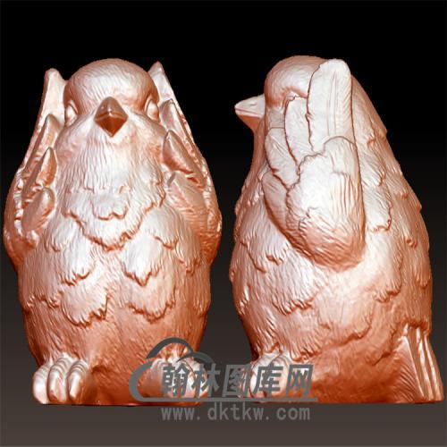 三不鸡立体圆雕图(YJ-014)