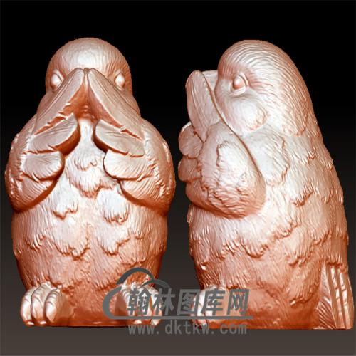 三不鸡立体圆雕图(YJ-015)