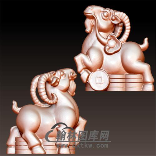 羊立体圆雕图(YY-002)