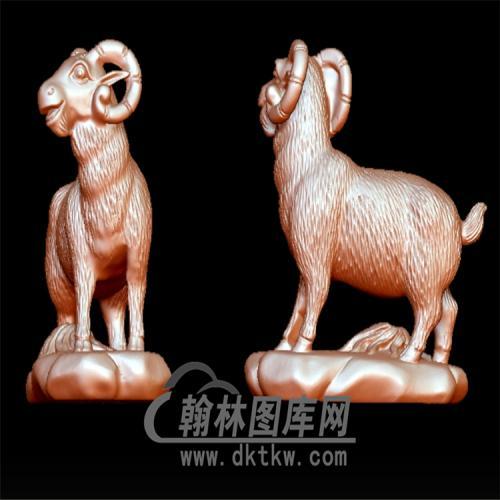 羊立体圆雕图(YY-003)