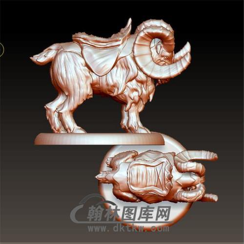 羊模型立体圆雕图(YY-008)