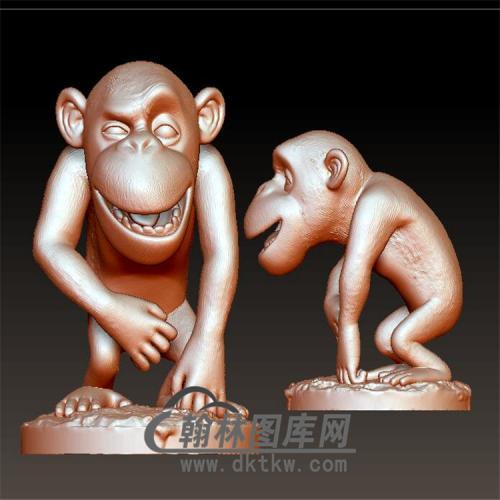 猴子立体圆雕图(YH-001)