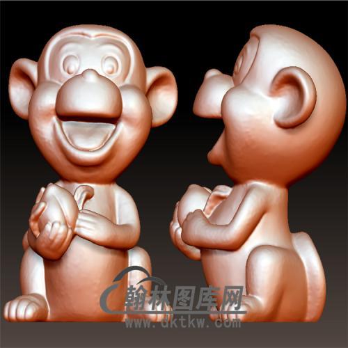 仙桃猴子摆件立体圆雕图(YH-003)