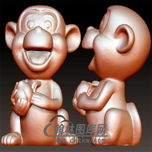 猴子立体圆雕图(YH-004)