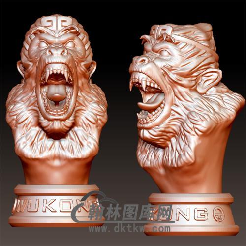 孙悟空猴头立体圆雕图(YH-005)