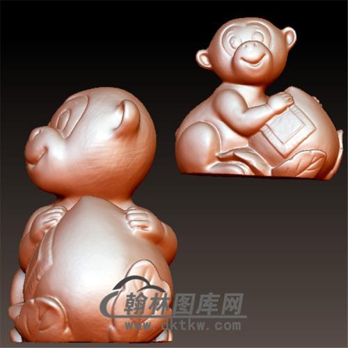 卡通猴立体圆雕图(YH-009)