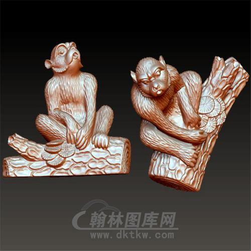 十二生肖猴立体圆雕图(YH-011)