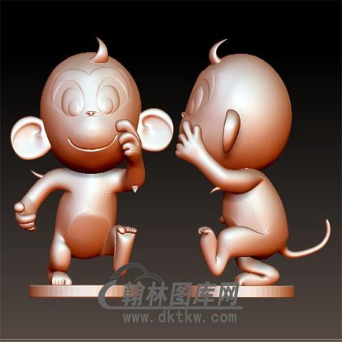 卡通生肖猴立体圆雕图(YH-019)