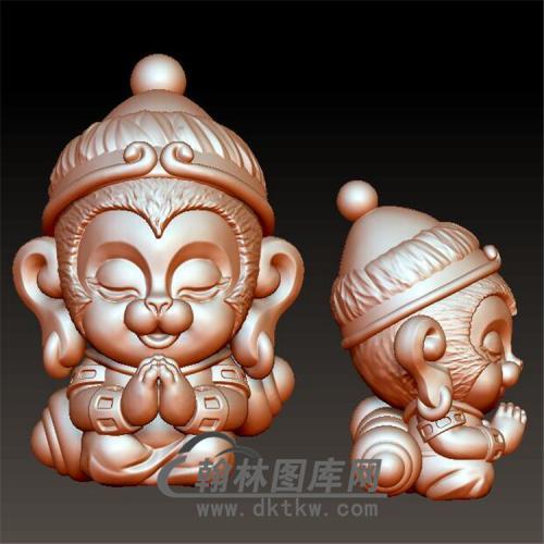 卡通猴子立体圆雕图(YH-022)