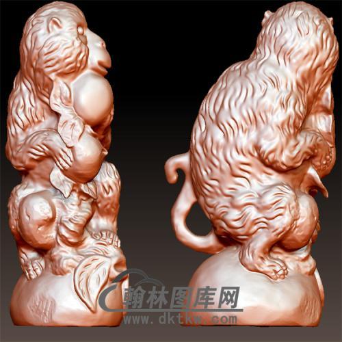 动物生肖猴子立体圆雕图(YH-023)