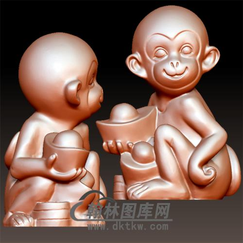 猴立体圆雕图(YH-027)