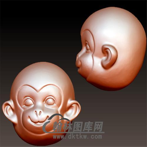 猴头立体圆雕图(YH-029)