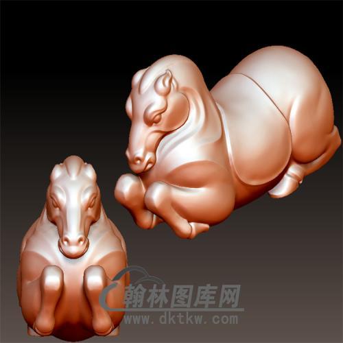 唐马立体圆雕图(YM-006)