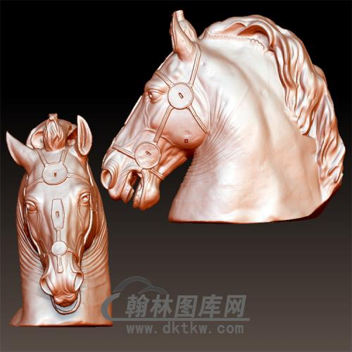 马头立体圆雕图(YM-008)