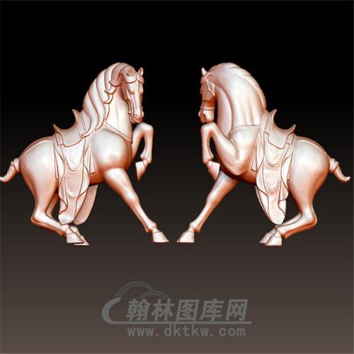 马头一边扭立体圆雕图(YM-023)