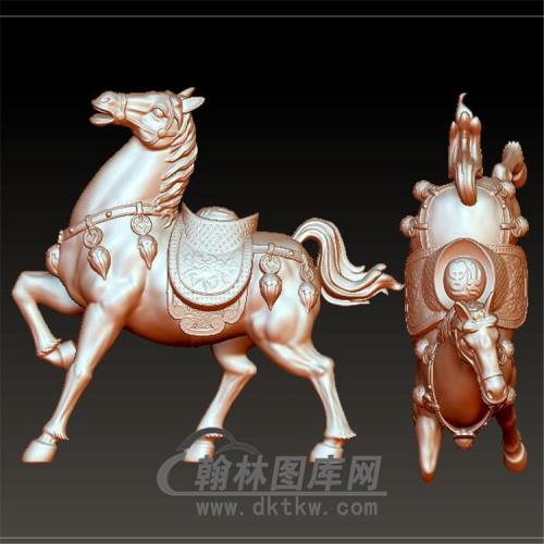 马有钱摆件立体圆雕图(YM-030)