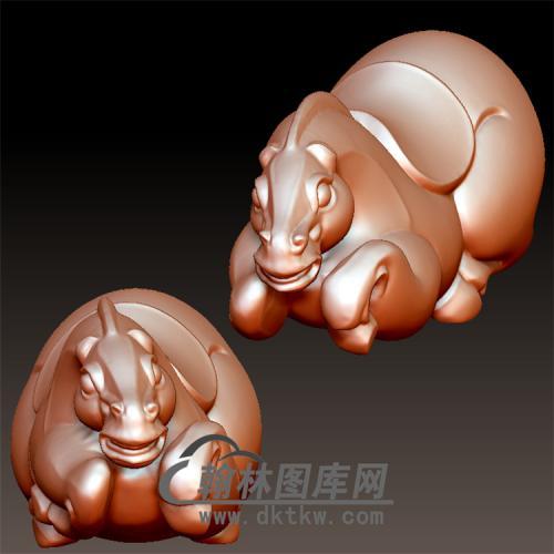 立体唐马立体圆雕图(YM-035)