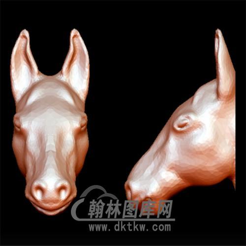 马头立体圆雕图(YM-049)