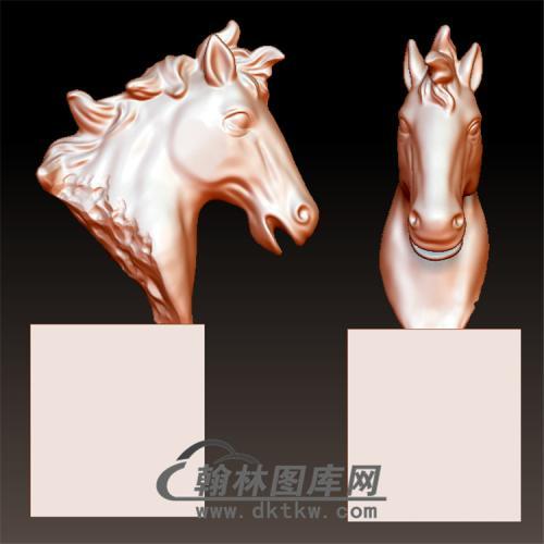 马头摆件立体圆雕图(YM-050)