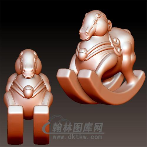 小木马立体圆雕图(YM-051)