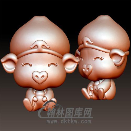 猪八戒立体圆雕图(YZ-006)
