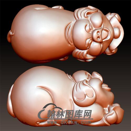 猪立体圆雕图(YZ-009)