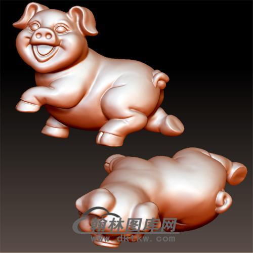 猪立体圆雕图(YZ-012)