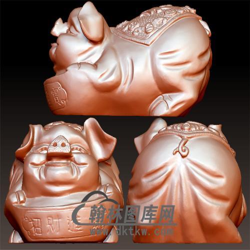 招财福猪立体圆雕图(YZ-018)
