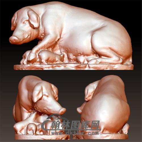 母猪立体圆雕图(YZ-027)
