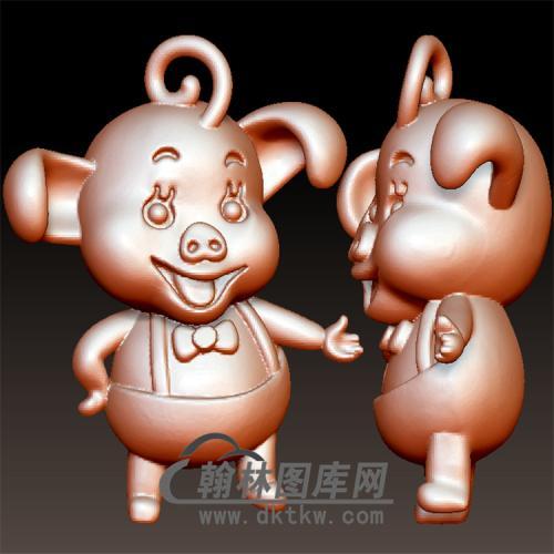 卡通猪八戒立体圆雕图(YZ-028)