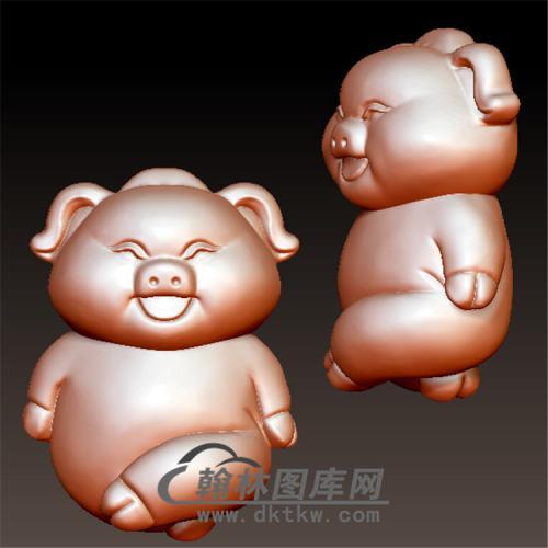 猪立体圆雕图(YZ-031)