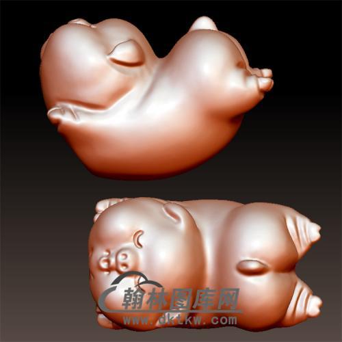 飞天猪立体圆雕图(YZ-032)
