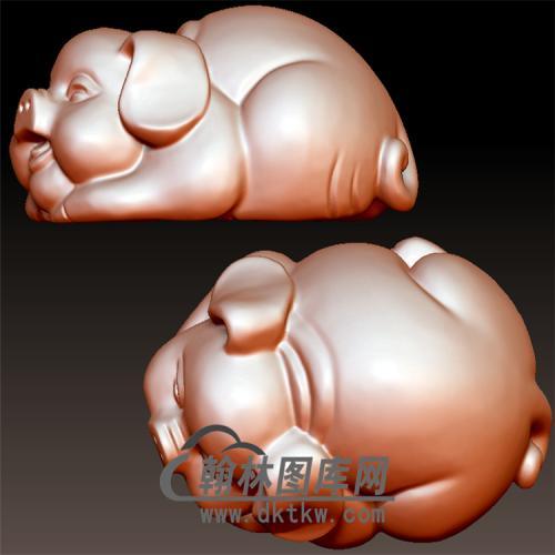 猪手把件立体圆雕图(YZ-033)