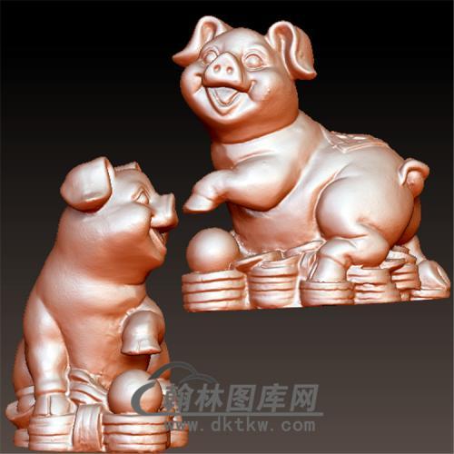 小福猪立体圆雕图(YZ-034)