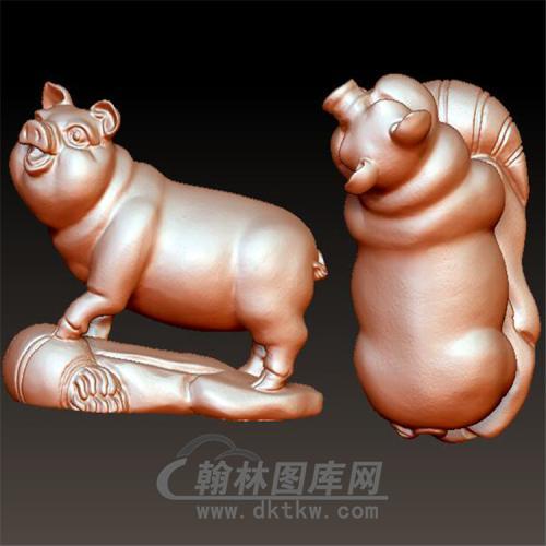 十二生肖猪立体圆雕图(YZ-035)