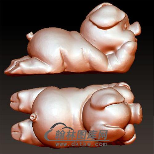 猪立体圆雕图(YZ-037)