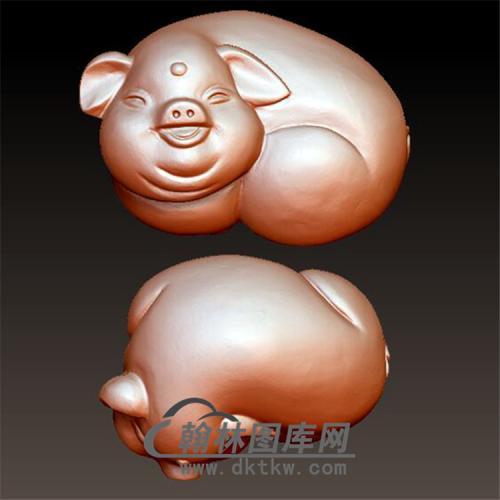 猪立体圆雕图(YZ-038)